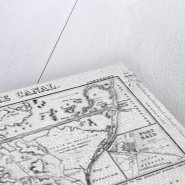 Wyld's Official Map of the Suez Maritime Canal by James the Younger Wyld
