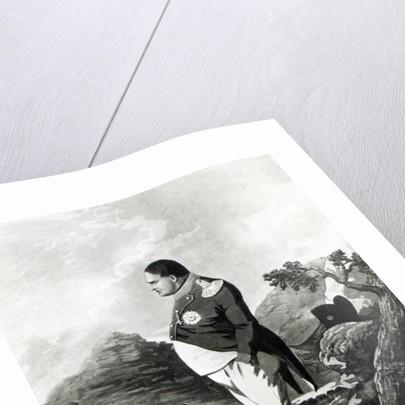 Napoleon on the island of St. Helena by English School