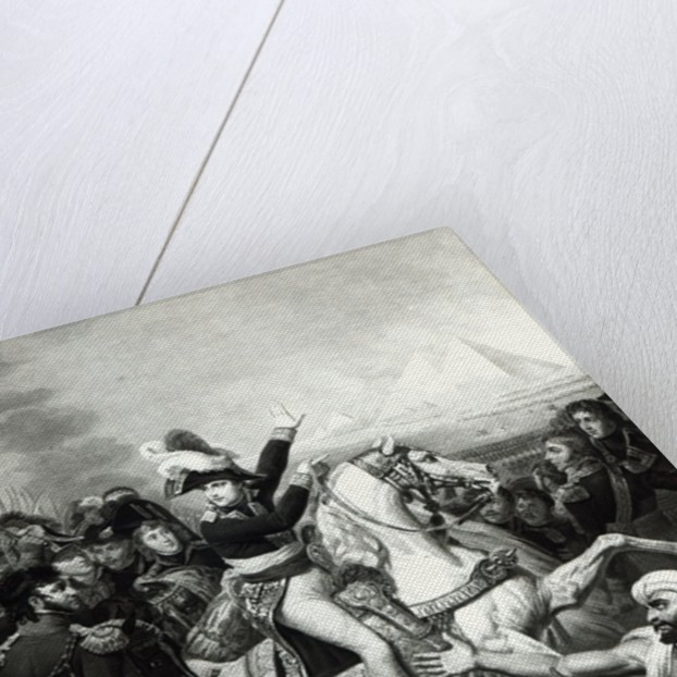 Portrayal of Napoleon as the Conquering Hero in Egypt by French School