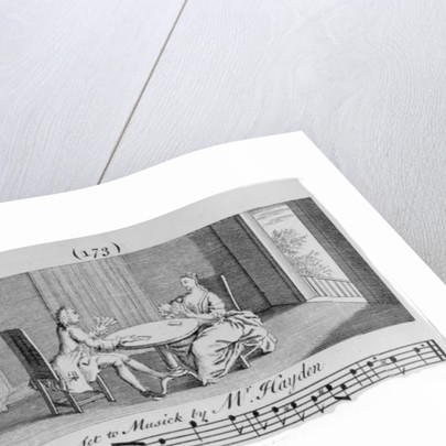 Illustration to Sheet Music by Joseph Haydn by English School