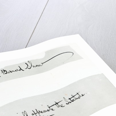 Signature of George Bernard Shaw by Unknown