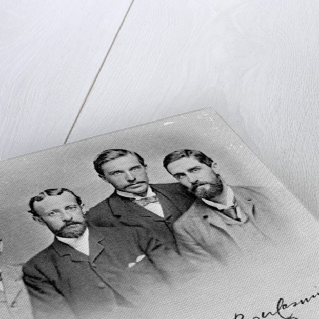 E.J. Glave, W.G. Parminter, Herbert Ward and Roger Casement by English Photographer