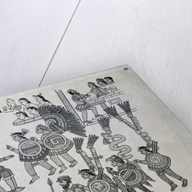 The last Aztec Emperor Cuauhtemoc surrenders by Spanish School