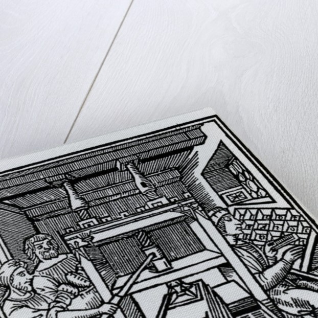 Printing press by German School