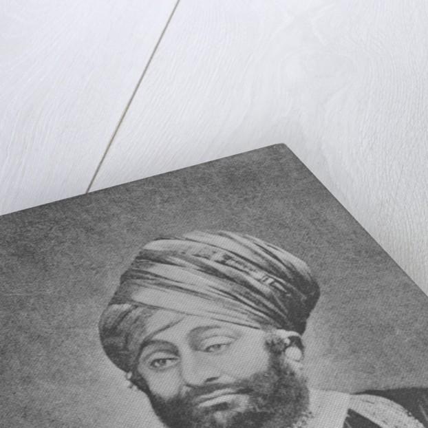 Maharaja Mansinhji II, Raj Sahib of Dhrangadhra by English Photographer