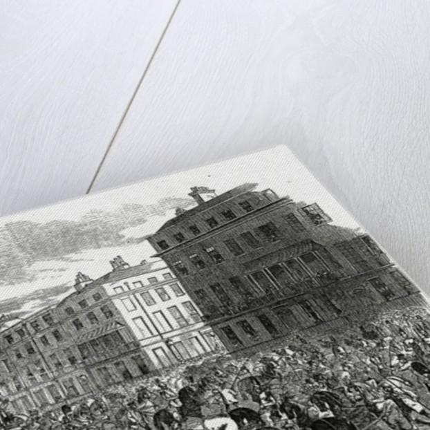 The Grand Procession of the Wellington Statue turning down Park Lane by Ebenezer Landells
