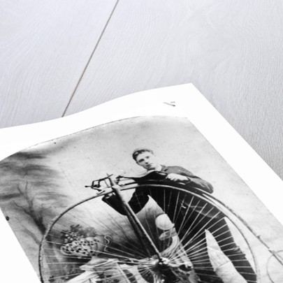 Young Man with a Penny-Farthing by English Photographer