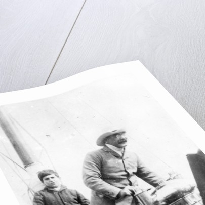 Rudyard Kipling and his son John on the yacht 'Bantam' by English Photographer