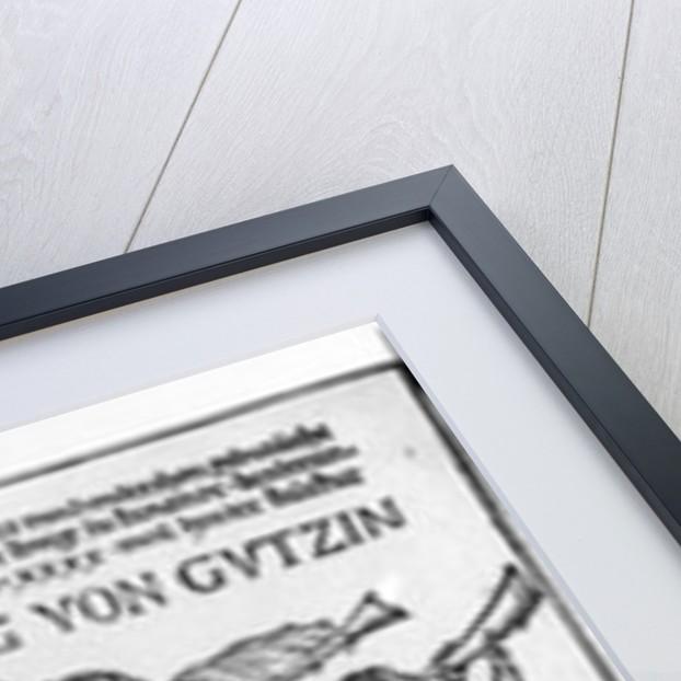 Der kuing von Gutzin, print made by George Glockendon by Hans Burgkmair