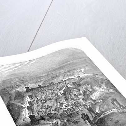 Bird's-eye View of Rhodes in the Sixteenth Century by English School