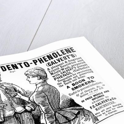 Advertisement for Calvert's Dento-Phenolene by English School