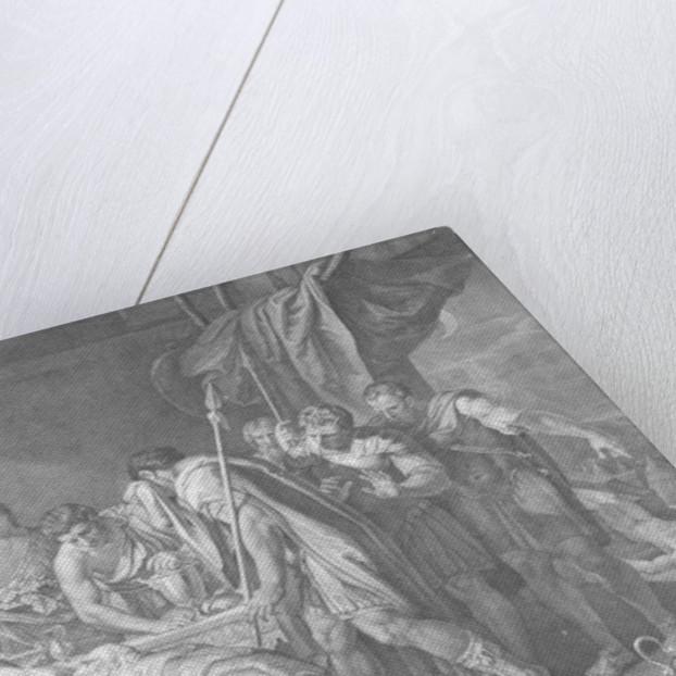 Priam redeems the dead body of Hector, Domenico Cunego by Gavin Hamilton