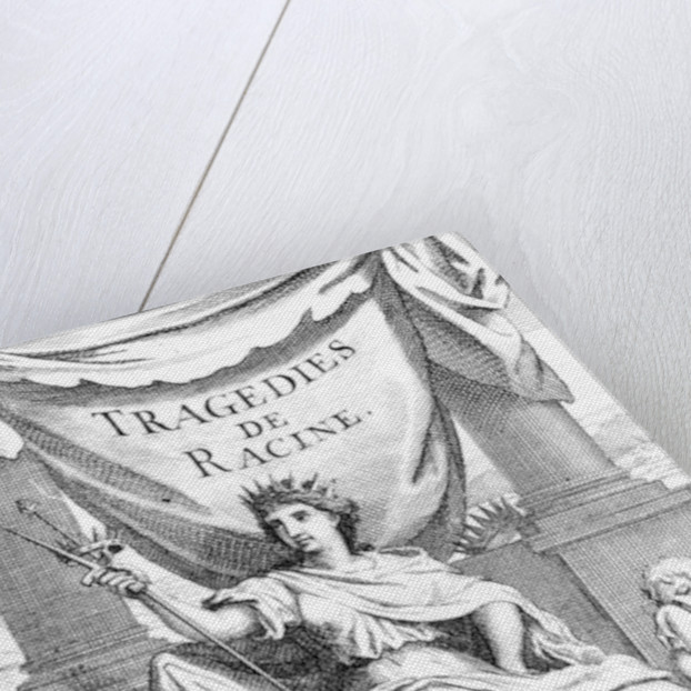 Title page to 'Tragedies de Racine' by Charles Le Brun
