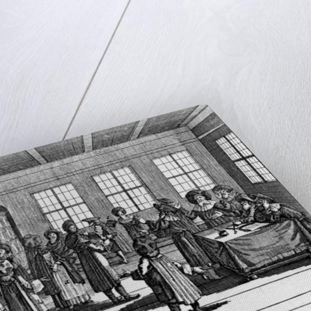 """Illustration taken from the """"Jüdisches Ceremonial, oder Beschreibung dererjenigen Gebrduche"""" by Paul Christian Kirchner by German School"""