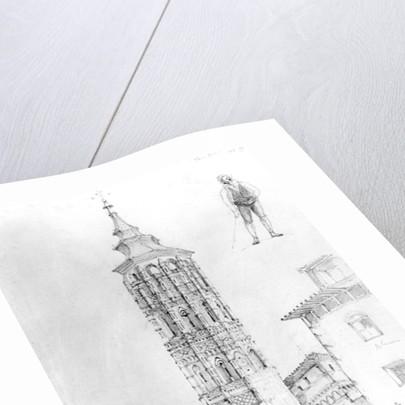 Torre Nueva of Zaragoza by English School