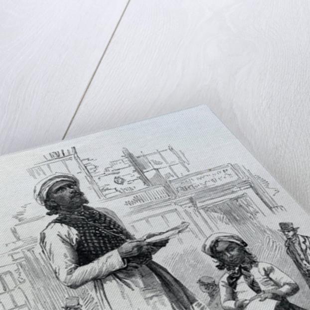 Hindoo Tract-Seller by English School