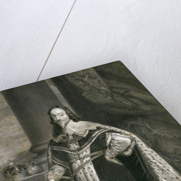 Charles 1st, engraved by F. Holl after Van Dyck by English School