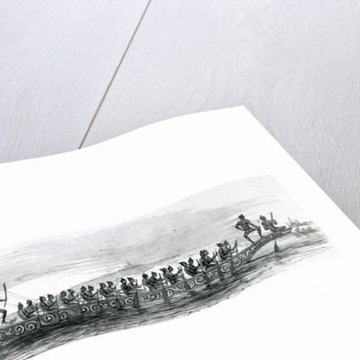 Burmese War Boat, taken from The London Illustrated News by English School