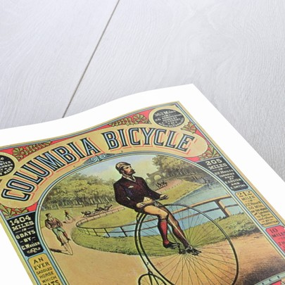 Advert for the Columbia Bicycle by The Pope MFG Co., Boston by American School