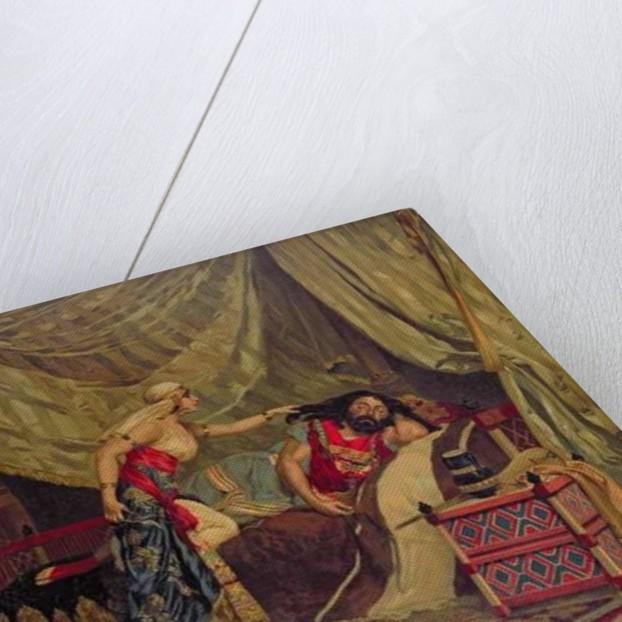 Samson and Delilah by German School