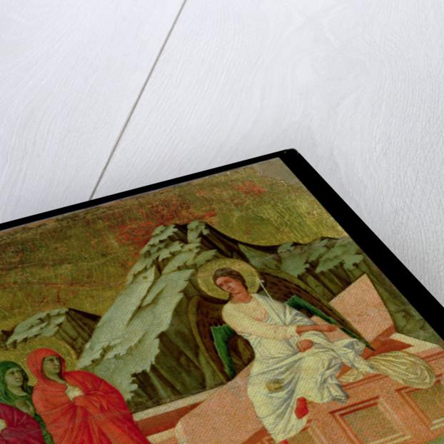 Maesta: The Three Maries at Christ's Tomb by Duccio di Buoninsegna