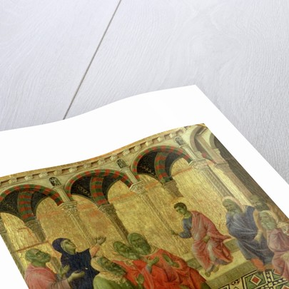 Maesta: Christ Among the Doctors by Duccio di Buoninsegna