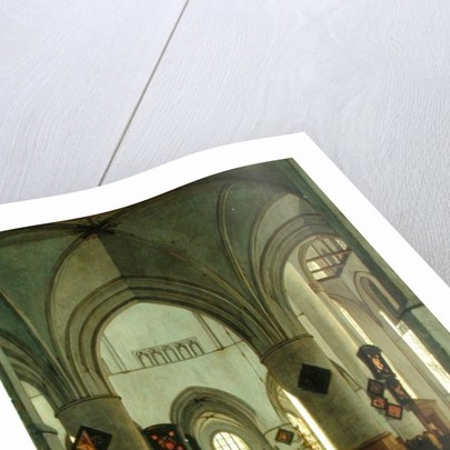 Interior View of St. Bavo Church, Harlem by Gerrit Adriaensz Berckheyde