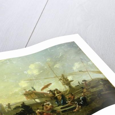 The Old Port of Genoa by Nicolaes Pietersz. Berchem