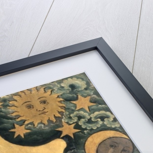 The Creation of the Sun, Moon and stars, detail from the Grabow Altarpiece by Master Bertram of Minden