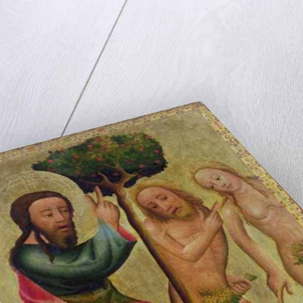 God the Father Punishes Adam and Eve, detail from the Grabow Altarpiece by Master Bertram of Minden
