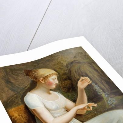 Girl with Flowers by Johann Heinrich Wilhelm Tischbein