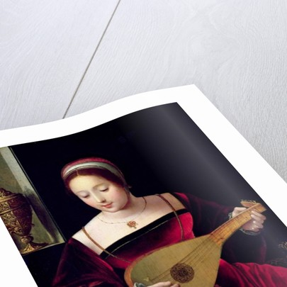 Mary Magdalene Playing the Lute by Master of the Female Half Lengths