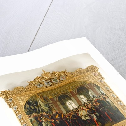 The Proclamation of Wilhelm as Kaiser of the new German Reich, in the Hall of Mirrors at Versailles on by Anton Alexander von Werner