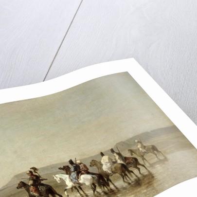 A Falcon Hunt by Alberto Pasini