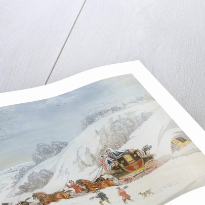 A Mail in Deep Snow, engraved by George Hunt by James Pollard
