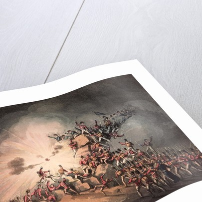 Storming of Ciudad Rodrigo, 19th January, 1813 aquatinted by Thomas Sutherland by William Heath