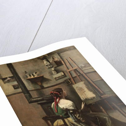 The Artist's Studio by Jean Baptiste Camille Corot