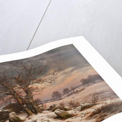 Winter Landscape. Near Vordingborg by Johan Christian Dahl