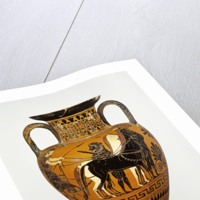 Attic black-figure neck amphora with apotheosis of Heracles by Greek
