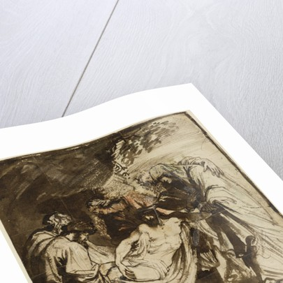 The Entombment (recto) by Sir Anthony van Dyck