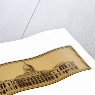 Design for U.S. Capitol by Etienne Sulpice Hallet