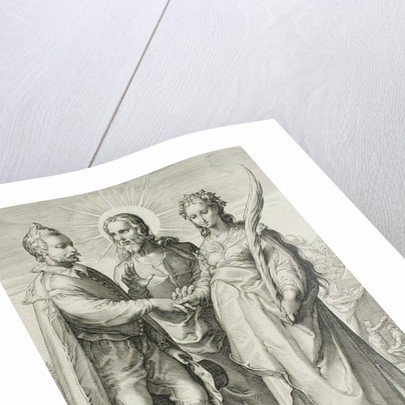 The Christian Marriage, Plate 3 of The Marriage Trilogy by Jan Saenredam