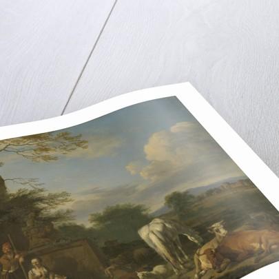 Arcadian Landscape with resting Shepherds and Animals by Adriaen van de Velde