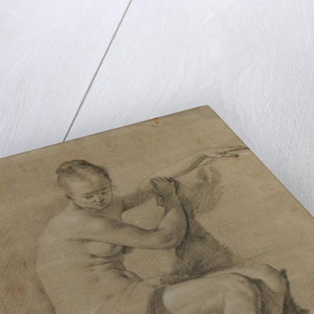 Seated female nude by Adriaen van de Velde