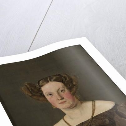 Mrs Th Petersen, nee Roepstorff by Christen Schjellerup Kobke