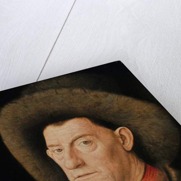 Portrait of a Man with carnation and the Order of Saint Anthony by Jan van Eyck