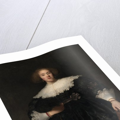 Portrait of a Young Woman with a Fan, 1633 by Rembrandt Harmensz. van Rijn