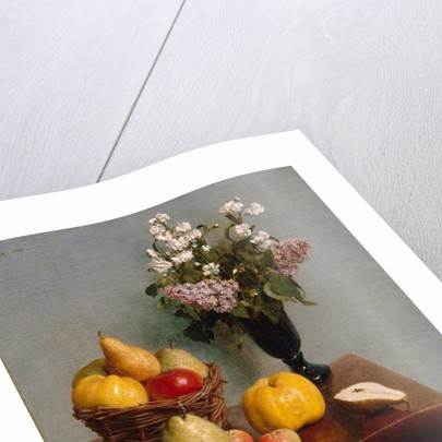 Still Life with Flowers and Fruit, 1866 by Ignace Henri Jean Fantin-Latour