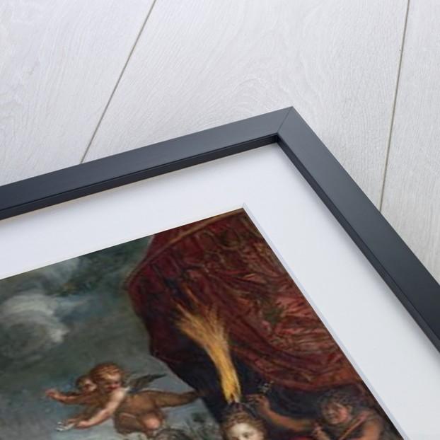 Hermes presenting Pandora to King Epimetheus, 1611 by Hendrik Goltzius