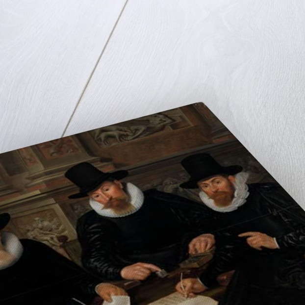 Four Regents and the 'House Father' of the Amsterdam Lepers' Asylum, 1624 by Werner Jacobsz van den Valckert